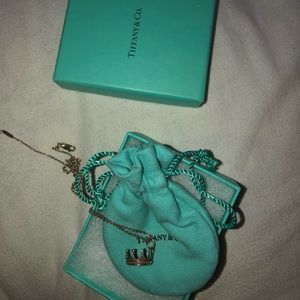 Tiffany and co crown necklace